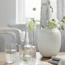 Kähler Vase Hammershøi 20 cm, weiß