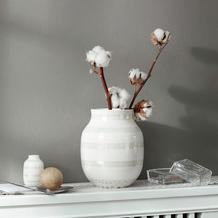 Kähler Vase Omaggio M perlmutt-weiß
