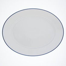 Kahla Aronda Blaue Linie Platte, oval 32 cm