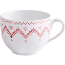 Kahla Aronda Kaffee-Obertasse 0,21 l Kreuzstich rot