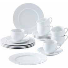 Kahla Aronda Kaffee-Set 18tlg. weiß