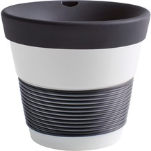 Kahla cupit Becher 0,23 l + Trinkdeckel 10x2 cm Magic Grip soft black