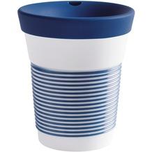 Kahla cupit Becher 0,35 l + Trinkdeckel 10x2 cm Magic Grip deep sea blue