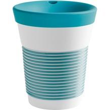 Kahla cupit Becher 0,35 l + Trinkdeckel 10x2 cm Magic Grip green lagoon