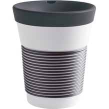 Kahla cupit Becher 0,35 l + Trinkdeckel 10x2 cm Magic Grip soft black