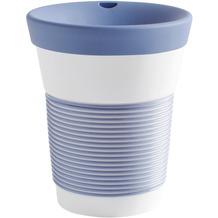 Kahla cupit Becher 0,35 l + Trinkdeckel 10x2 cm Magic Grip stormy blue