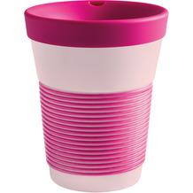 Kahla cupit Becher 0,35 l + Trinkdeckel 10x2 cm MG brilliant magenta + rosé