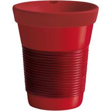 Kahla cupit Becher 0,35 l + Trinkdeckel 10x2 cm MG dark cherry + red