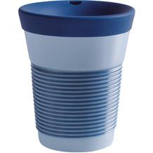Kahla cupit Becher 0,35 l + Trinkdeckel 10x2 cm MG deep sea blue + lavender