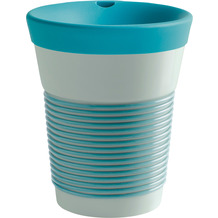 Kahla cupit Becher 0,35 l + Trinkdeckel 10x2 cm MG green lagoon + mint grey