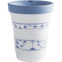 Kahla cupit Becher 0,35 l + Trinkdeckel 10x2 cm MG porcelain white+Blau Saks