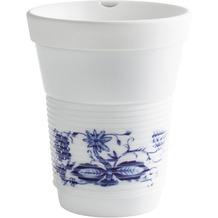 Kahla Rossella Zwiebelmuster cupit Becher 0,35 l + Trinkdeckel 10x2 cm MG porcelain white+
