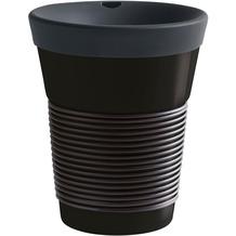 Kahla cupit Becher 0,35 l + Trinkdeckel 10x2 cm MG soft black + black