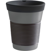 Kahla cupit Becher 0,35 l + Trinkdeckel 10x2 cm MG soft black + grey