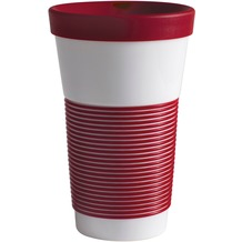 Kahla cupit Becher 0,47 l + Trinkdeckel 10x2 cm Magic Grip dark cherry