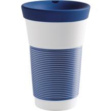 Kahla cupit Becher 0,47 l + Trinkdeckel 10x2 cm Magic Grip deep sea blue