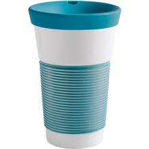 Kahla cupit Becher 0,47 l + Trinkdeckel 10x2 cm Magic Grip green lagoon