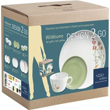Kahla Five Senses Design 2 Go Set 12-teilig Wildblume rot/gelb