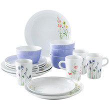 Kahla Five Senses Set 16-teilig Wildblume rot/gelb