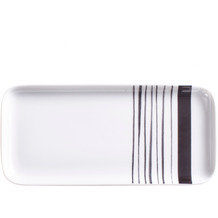 Kahla Flavoured Moments Tablett rechteckig 20x9 cm Black Stripes