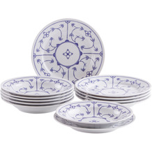 Kahla Tradition Tafel-Set 12-teilig Blau Saks