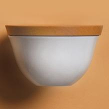 Kahla Update Schale MIT GRAVUR (z.B. Namen) 0,50 l + Holzdeckel 14 cm weiß