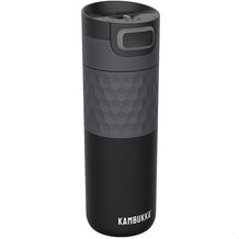 Kambukka Isolierbecher Etna Grip Black Steel schwarz Thermobecher 500ml