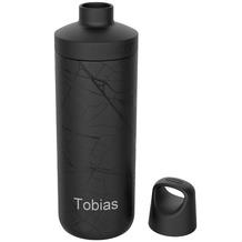 Kambukka Isolierflasche Reno Insulated 100% Hasselt schwarz MIT GRAVUR (z.B. Namen) Thermo-Flasche 500ml