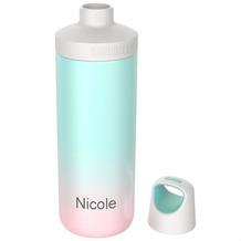 Kambukka Isolierflasche Reno Insulated Neon Mint Farbverlauf MIT GRAVUR (z.B. Namen) Thermo-Flasche 500ml
