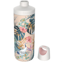 Kambukka Isolierflasche Reno Insulated Paradise Flower MIT GRAVUR (z.B. Namen) Thermo-Flasche 500ml