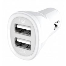 Kanex Dual KFZ-Ladegerät USB - 1,0A & 2,1A - weiß