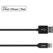 Kanex DuraFlex Charge/Sync-Kabel - Lightning auf USB-A - 1,2m - matt schwarz