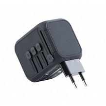 Kanex Travel Ladegerät, 3x USB/1x USB-C, 5A, US, UK, EU, AU, schwarz, K160-1057-USBC