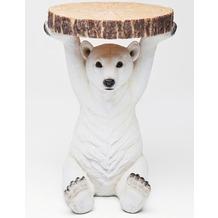 Kare Design Beistelltisch Animal Polar Bear Ø37cm