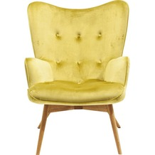 Kare Design Armchair Vicky Velvet Green