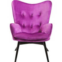 Kare Design Sessel Black Vicky Velvet Purple