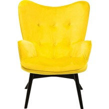 Kare Design Sessel Black Vicky Velvet Yellow