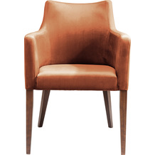 Kare Design Armlehnstuhl Mode Velvet Terrakotta