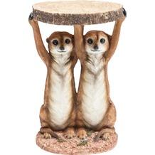 Kare Design Beistelltisch Animal Meerkat Sisters Ø33cm