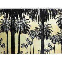 Kare Design Bild Glas Metallic Palms 120x80cm