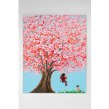 Kare Design Bild Touched Flower Girl 100x80cm