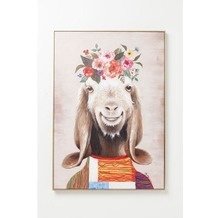 Kare Design Bild Touched Flowers Goat 102x72cm