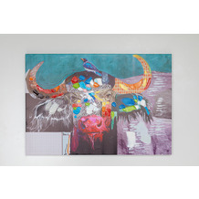 Kare Design Bild Touched Wildlife Buffalo 70x100cm