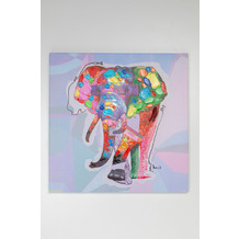 Kare Design Bild Touched Wildlife Elephant 80x80cm