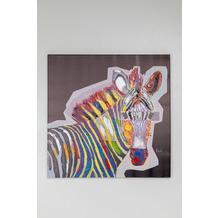 Kare Design Bild Touched Wildlife Zebra 80x80cm