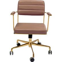 Kare Design Bürodrehstuhl Dottore Braun