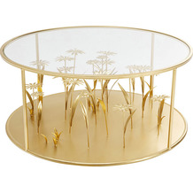 Kare Design Couchtisch Flower Meadow Gold Ø80