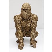 Kare Design Deko Figur Gorilla Gold 80cm