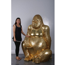 Kare Design Deko Figur Gorilla Gold XL 180 Dekofigur