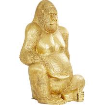 Kare Design Deko Figur Gorilla Gold XXL 249 Dekofigur